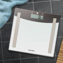Salter Glass Analyser Scales - Grey/White